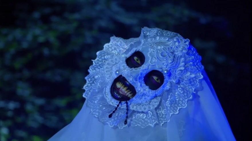 Saint's Ghost look from Dragula: Resurrection